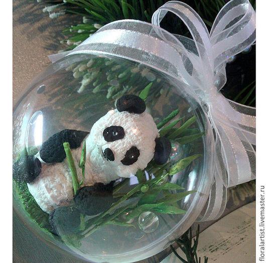 """Новый год 2017 ручной работы. Ярмарка Мастеров - ручная работа. Купить шар """"Панда"""". Handmade. Праздник, мир детства, пандочка"""