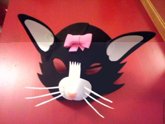 Карнавальные костюмы ручной работы. Ярмарка Мастеров - ручная работа. Купить Детская маска Кошка. Handmade. Комбинированный, маскарадная маска