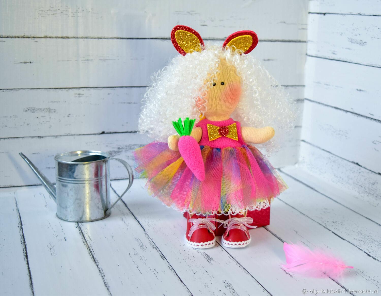 Текстильная кукла Зайка, Куклы и пупсы, Москва,  Фото №1