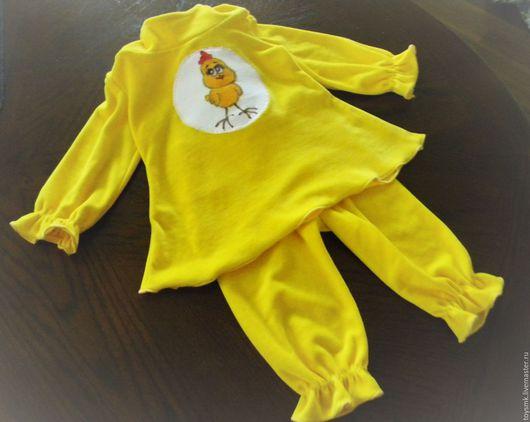 Детские карнавальные костюмы ручной работы. Ярмарка Мастеров - ручная работа. Купить Костюм цыпленка для девочки. Handmade. Желтый, туника