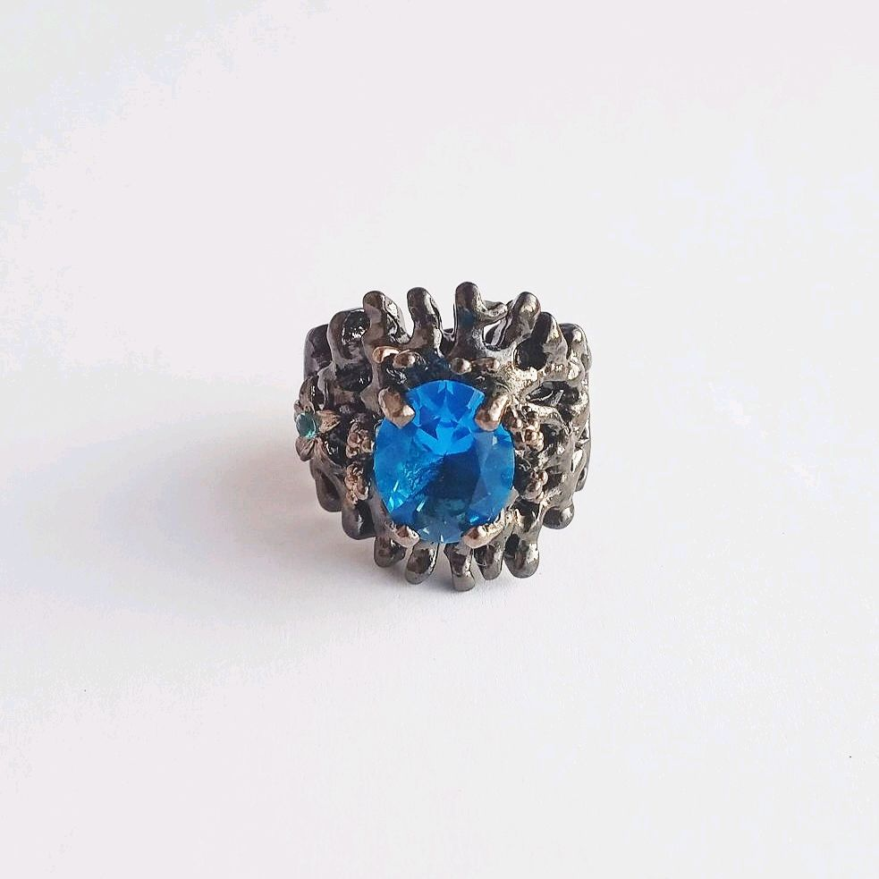17R. Silver ring with Swiss blue Topaz, Rings, Kaluga,  Фото №1