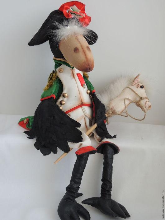 Коллекционные куклы ручной работы. Ярмарка Мастеров - ручная работа. Купить Ворон Наполеон. Handmade. Черный, грунтованный текстиль, велюр