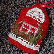 """Сувениры и подарки ручной работы. Ярмарка Мастеров - ручная работа саше с лавандой """"Домик"""". Handmade."""
