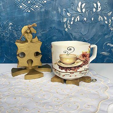 Для дома и интерьера ручной работы. Ярмарка Мастеров - ручная работа Набор подставок Пазлы. Handmade.