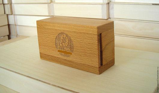 Коробка для флешка из дерева (бук)