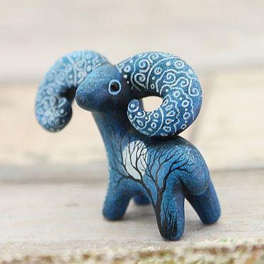 Для дома и интерьера ручной работы. Ярмарка Мастеров - ручная работа Баран Лунный Странник, фигурка, статуэтка, скульптура. Handmade.