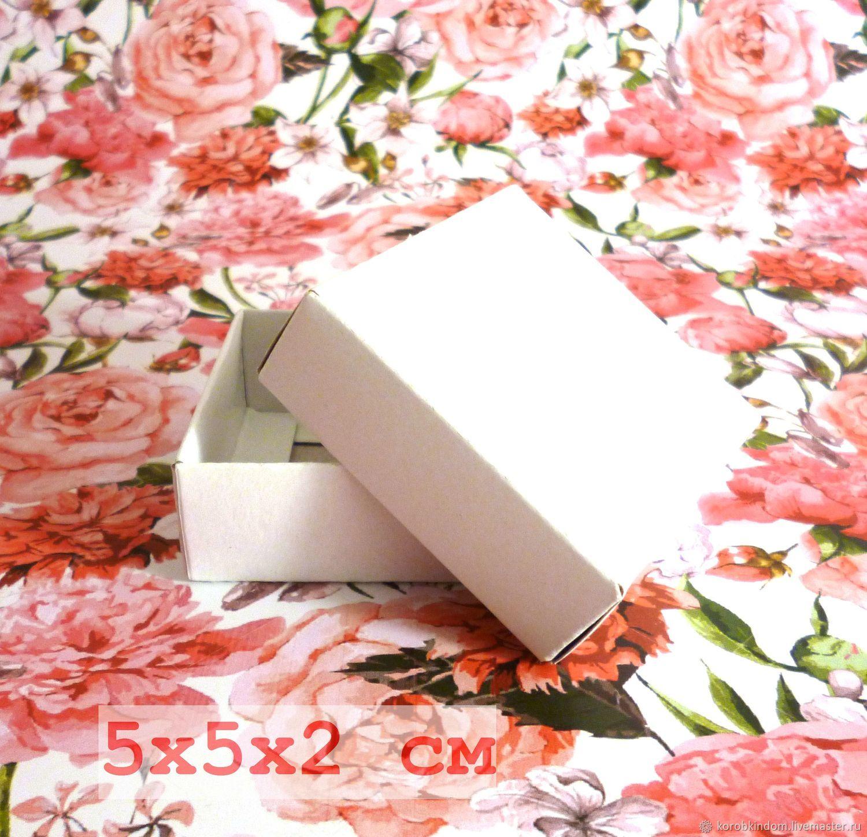 5х5х2 - крышка-дно белая коробка, Коробки, Санкт-Петербург,  Фото №1