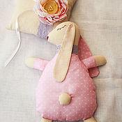 Куклы и игрушки ручной работы. Ярмарка Мастеров - ручная работа Зайка сплюшка. Handmade.