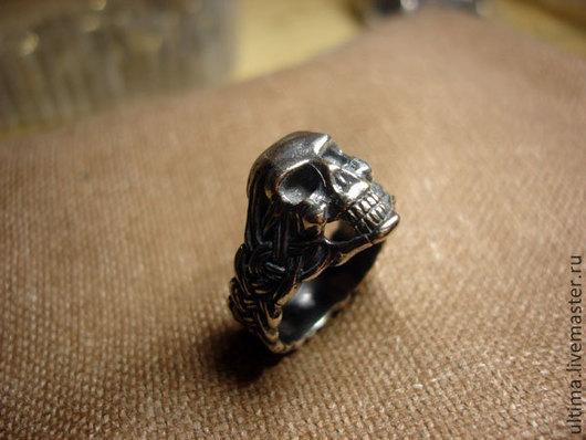 """Кольца ручной работы. Ярмарка Мастеров - ручная работа. Купить Кольцо """"Череп"""". Handmade. Серебряный, смерть, мертвая голова"""
