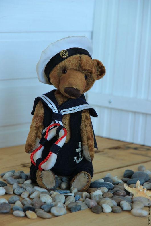Мишки Тедди ручной работы. Ярмарка Мастеров - ручная работа. Купить Мишка тедди морячок Юрка. Handmade. Комбинированный, матрос