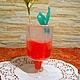 """Мыло-коктейль """"Кровавя Мери"""" с ухаживающим маслом виноградной косточки и ароматом """"Огурец""""."""