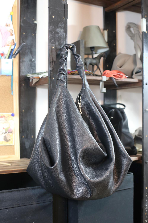 Bag - hobo - shopper - black, Sacks, Moscow,  Фото №1