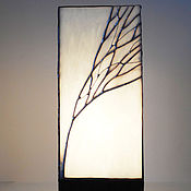 Для дома и интерьера handmade. Livemaster - original item Tiffany table lamp Winter sunrise. Stained glass lamp. Handmade lamp. Handmade.