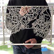 Картины ручной работы. Ярмарка Мастеров - ручная работа Карта Города Стамбул. Handmade.