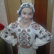 Русский стиль handmade. Livemaster - original item Children`s shirt embroidery.. Handmade.
