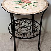 Столик с мозаикой Розы