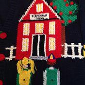 """Одежда ручной работы. Ярмарка Мастеров - ручная работа Кардиган """" Здравствуй, Школа?!"""". Handmade."""