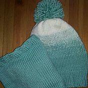 Работы для детей, ручной работы. Ярмарка Мастеров - ручная работа Комплект шапка и снуд для девочки Арктика. Handmade.