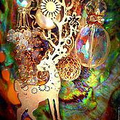 Украшения ручной работы. Ярмарка Мастеров - ручная работа Брошь Новогодняя сказка. Handmade.
