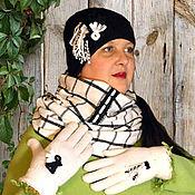Аксессуары ручной работы. Ярмарка Мастеров - ручная работа Шапка, шарф-снуд и перчатки бохо КЛАССИКИ. Handmade.