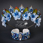 """Украшения ручной работы. Ярмарка Мастеров - ручная работа Набор """"blue star""""-корона и браслет. Handmade."""