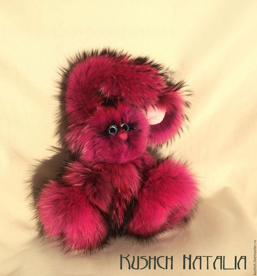 Игрушки животные, ручной работы. Ярмарка Мастеров - ручная работа. Купить Фуксяша, зайка из натурального розового енота. Handmade. Фуксия