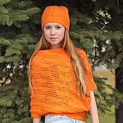 Одежда ручной работы. Ярмарка Мастеров - ручная работа Пуловер и шапка Оrange. Handmade.