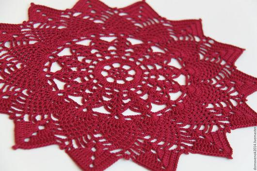Текстиль, ковры ручной работы. Ярмарка Мастеров - ручная работа. Купить Набор для сервировки (вишневый). Handmade. Салфетка, гостинная