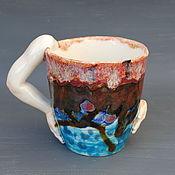 Посуда handmade. Livemaster - original item Four hands. Cool mug.. Handmade.