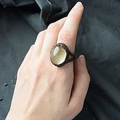 Украшения handmade. Livemaster - original item Copper ring with citrine. Handmade.