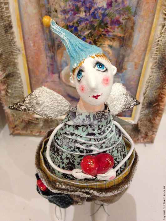 Коллекционные куклы ручной работы. Ярмарка Мастеров - ручная работа. Купить Ангел Василек. Handmade. Комбинированный, подарок на любой случай