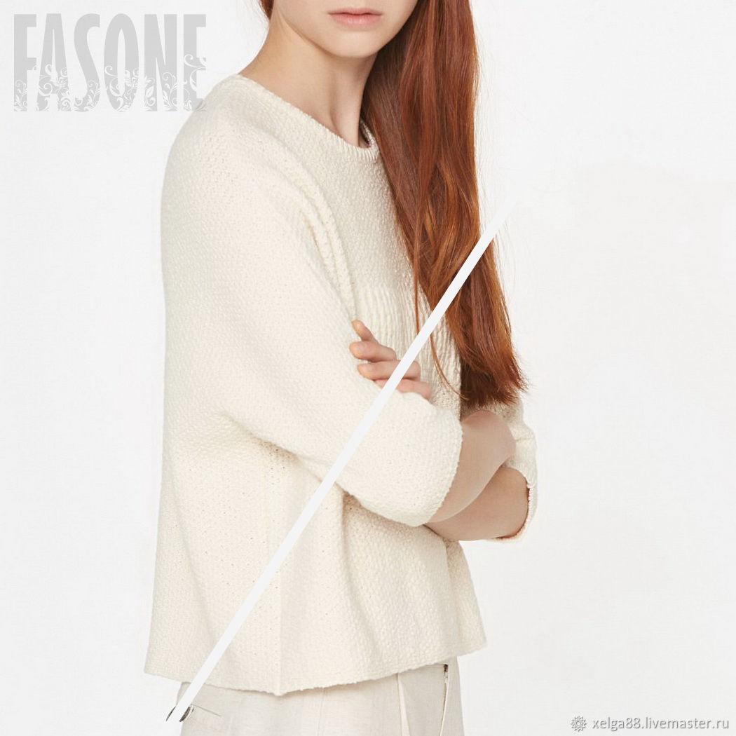 Кофты и свитера ручной работы. Ярмарка Мастеров - ручная работа. Купить Женский свитер белый из 100% органического хлопка. Handmade.