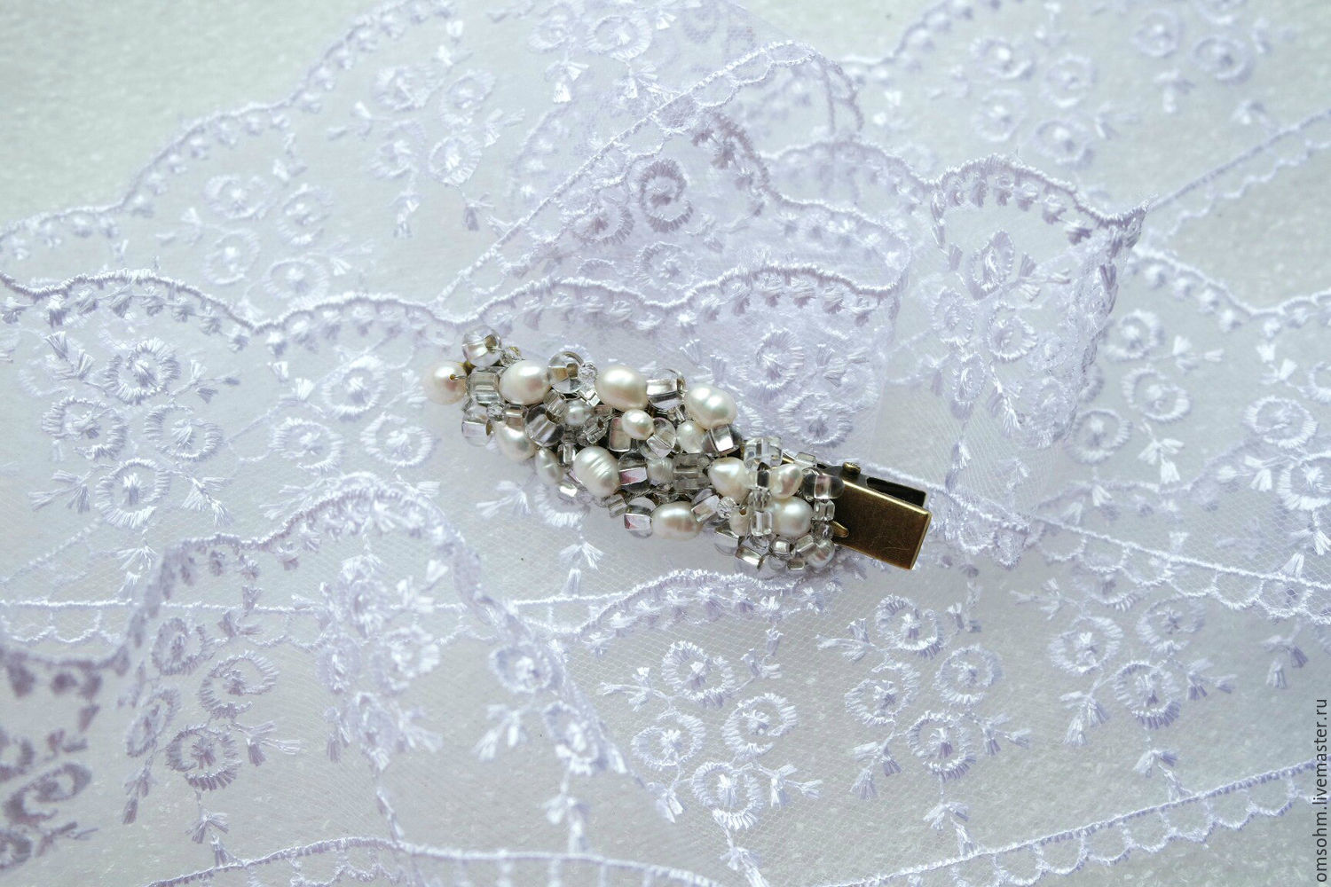 Pearl Vintage hair clip, Hairpins, Moscow,  Фото №1