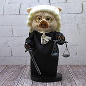 Куклы и игрушки handmade. Livemaster - original item Pig of Justice. Handmade.