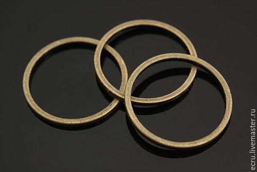 Коннектор кольцо 16 мм, бронза, фурнитура Южная Корея