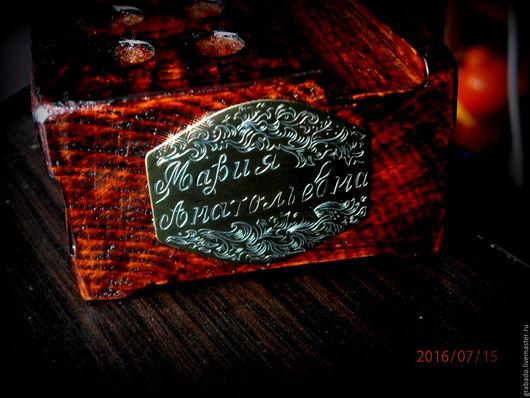 Карандашницы ручной работы. Ярмарка Мастеров - ручная работа. Купить Карандашница с именем. Handmade. Коричневый, узоры, бук