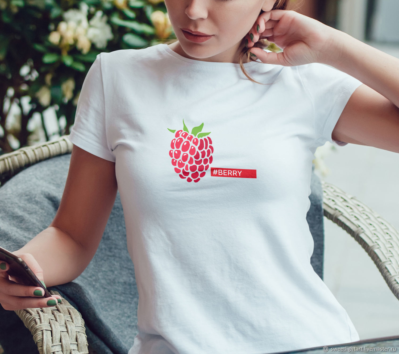 Mikey: Women's t shirt Berry Raspberry, Tanks, Stavropol,  Фото №1