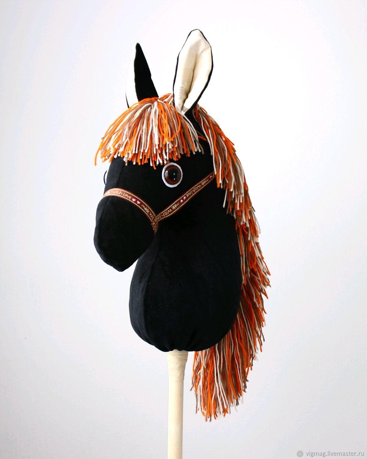 Игрушка лошадь, Лошадка на палочке, лошадка скакалка, Мягкие игрушки, Иваново,  Фото №1