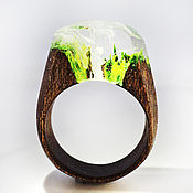 Украшения handmade. Livemaster - original item Wooden ring Waterfall. Handmade.