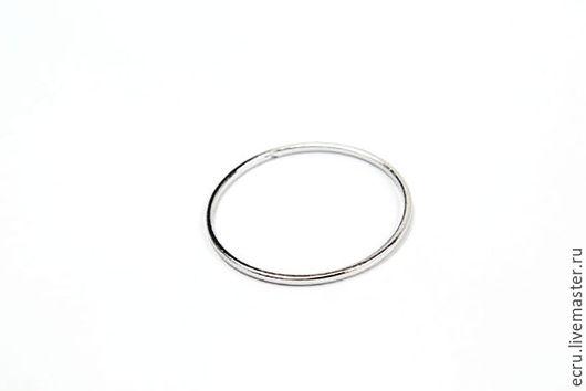 Коннектор кольцо 25 мм, родиевое покрытие, Южная Корея