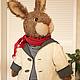 Мишки Тедди ручной работы. Заказать Мистер Кроль, Кролик по технологии Тедди. Мордвинкова Мария (teddysoul). Ярмарка Мастеров. Белый