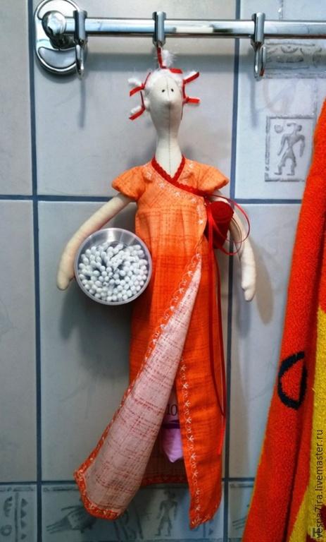 """Куклы и игрушки ручной работы. Ярмарка Мастеров - ручная работа. Купить Набор для шитья куклы:""""Хранительница ватных дисков и палочек"""". Handmade."""