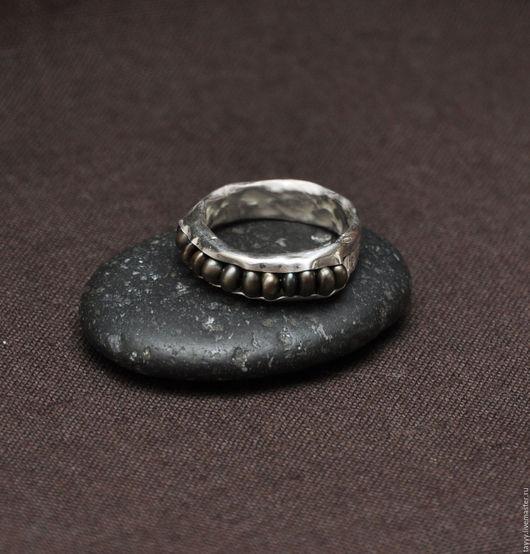 """Кольца ручной работы. Ярмарка Мастеров - ручная работа. Купить Кольцо """"Горох"""" коричневый жемчуг. Handmade. Кольцо, жемчуг коричневый"""
