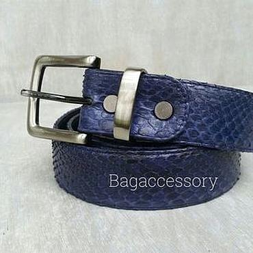 Accessories handmade. Livemaster - original item Belt made of genuine Python leather. Handmade.
