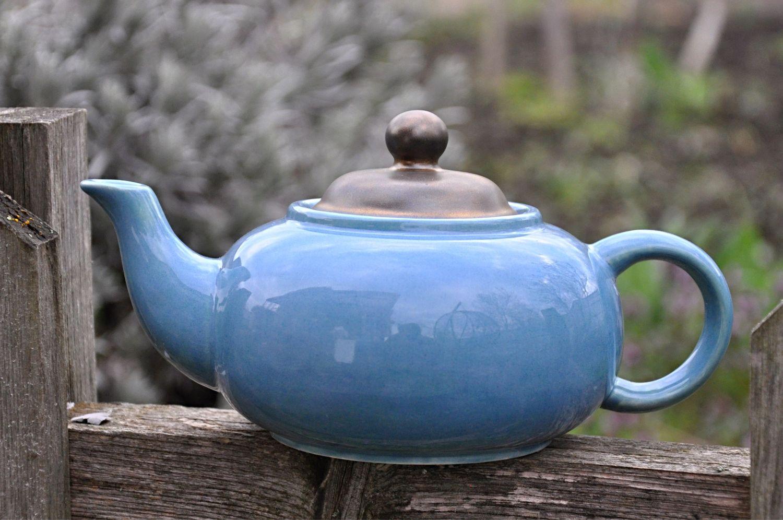 Керамический чайник ручной работы Лазурный, Чайники, Краснодар,  Фото №1