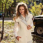 """Одежда ручной работы. Ярмарка Мастеров - ручная работа Пальто-жилет """"Белое серебро"""". Handmade."""