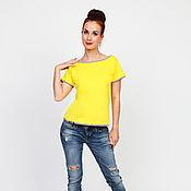 Одежда handmade. Livemaster - original item T-shirt Mokosh yellow. Handmade.