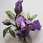 """Украшения ручной работы. Ярмарка Мастеров - ручная работа Ирис""""-нежный цветок. Handmade."""