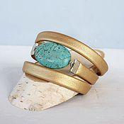 Фен-шуй и эзотерика handmade. Livemaster - original item Bracelet charm women Golden-blue. Handmade.