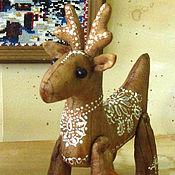 Подарки к праздникам handmade. Livemaster - original item Christmas Coffee reindeer